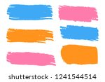collection of hand drawn... | Shutterstock .eps vector #1241544514