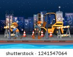 construction worker working at... | Shutterstock .eps vector #1241547064