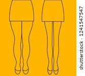 female thick and slender legs... | Shutterstock .eps vector #1241547547