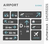 airport signs icon vector set | Shutterstock .eps vector #1241552221