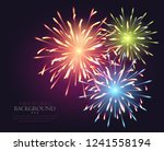 fireworks explosioms greeting... | Shutterstock .eps vector #1241558194