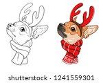 christmas dog print   Shutterstock .eps vector #1241559301