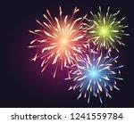 fireworks explosioms greeting... | Shutterstock . vector #1241559784