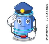 police cylinder bucket cartoon... | Shutterstock .eps vector #1241565001
