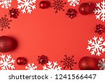 christmas red background top... | Shutterstock . vector #1241566447