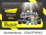 complete sports nutrition... | Shutterstock .eps vector #1241574541