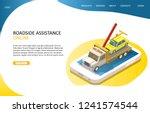 online roadside assistance... | Shutterstock .eps vector #1241574544