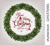 merry christmas typographical... | Shutterstock .eps vector #1241576581
