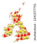 map of great britain and... | Shutterstock .eps vector #1241577751