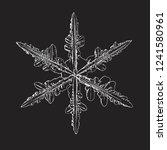 snowflake isolated on black... | Shutterstock .eps vector #1241580961
