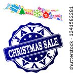 christmas sale collage of... | Shutterstock .eps vector #1241582281