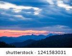 sunset over peaks on blue ridge ...   Shutterstock . vector #1241583031
