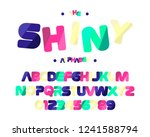 shiny colorful font. english... | Shutterstock .eps vector #1241588794