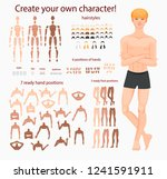 stylized characters set for... | Shutterstock . vector #1241591911