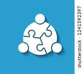 teamwork people puzzle. vector...   Shutterstock .eps vector #1241592397