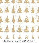 seamless vector merry christmas ... | Shutterstock .eps vector #1241592481