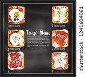 toast menu in chalkboard... | Shutterstock .eps vector #1241604061
