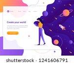 create your world. web... | Shutterstock .eps vector #1241606791