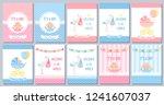 baby shower boy girl card.... | Shutterstock .eps vector #1241607037