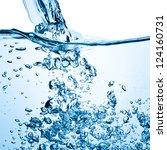 closeup of bubbles in blue water | Shutterstock . vector #124160731