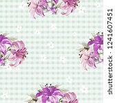 seamless floral pattern with... | Shutterstock .eps vector #1241607451