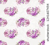 seamless floral pattern with... | Shutterstock .eps vector #1241607454