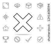 multiplication sign icon.... | Shutterstock .eps vector #1241608594
