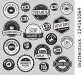 set of labels and stickers for... | Shutterstock .eps vector #124161064