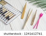 instruments  beauty and fashion ... | Shutterstock . vector #1241612761