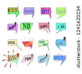 comics sound speech effect...   Shutterstock .eps vector #1241620234