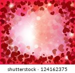 valentine's day background with ... | Shutterstock .eps vector #124162375