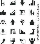solid black vector icon set  ...   Shutterstock .eps vector #1241625121