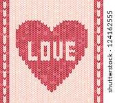 love   vector valentine's day... | Shutterstock .eps vector #124162555