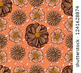 vector seamless pattern with...   Shutterstock .eps vector #1241628874