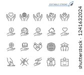 charity and donation line icons.... | Shutterstock .eps vector #1241632024