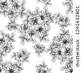 flower print in bright colors....   Shutterstock .eps vector #1241632801