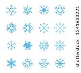snowflake vector icon white... | Shutterstock .eps vector #1241633221
