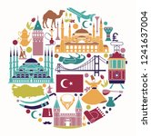 set of country turkey culture... | Shutterstock .eps vector #1241637004