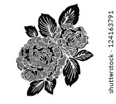 rose motif pattern   Shutterstock . vector #124163791