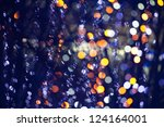 abstract blurred festive lights ... | Shutterstock . vector #124164001