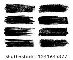 vector set of brush strokes.... | Shutterstock .eps vector #1241645377