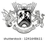 vector heraldic illustration in ...   Shutterstock .eps vector #1241648611