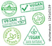 vegan and natural food. rubber... | Shutterstock .eps vector #124165159