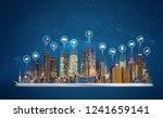 digital tablet with modern... | Shutterstock . vector #1241659141