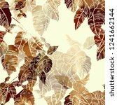 imprints abstract leaves mix... | Shutterstock . vector #1241662144