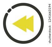 back previous button icon    Shutterstock .eps vector #1241663194