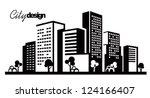 Vector Black City Icons Set On...