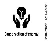 conservation of energy icon... | Shutterstock .eps vector #1241666854