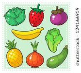 fruits   vegetables 03 image of ... | Shutterstock .eps vector #124166959