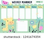 childish weekly planner and to... | Shutterstock .eps vector #1241674354